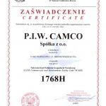 certyfikat NCAG